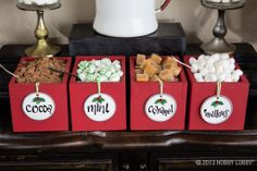 Mix in a little sweetness to your holiday festivities with a hot cocoa bar!