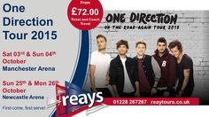 One Direction on Tour - Tickets available through @reaystours for Manchester & Newcastle - my little girl so wants to go...... Tickets go on sale at 9am today.... prepare for the bun fight!