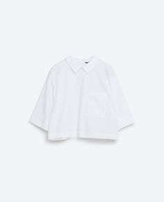 Image 8 of POPLIN SHIRT WITH POCKET from Zara