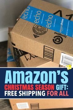 Amazon's Christmas Season Gift: Free Shipping for All - Amazon is offering FREE shipping to everyone for a limited time. Here's what you need to know! Amazon Christmas, Christmas Shopping, Christmas Fun, Saving Tips, Saving Money, Amazon Free Shipping, Birthday Freebies, Finance Tips, Ways To Save