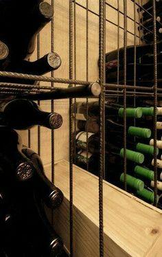 Rebar wine racks for the industrial look