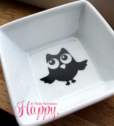 Owl Ring Dish for Jewelry Simple and Cute Circular by HappyTessa