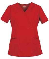 Dickies EDS Signature Scrubs Missy Fit Mock Wrap Top Style #  D86806 #UniformAdvantage #scrubs #nursing #4thofjuly