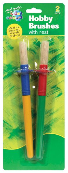 Mont Marte Kids Colour Hobby Brushes with Rest 2 pce Art For Kids, Crafts For Kids, Arts And Crafts, Love My Kids Quotes, Art Shed, Painting Accessories, Hobbies For Kids, Kids Corner, Online Painting