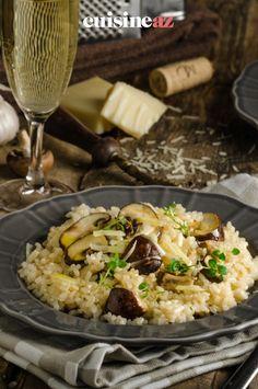 Cette recette de risotto aux courgettes et champignons est facile à réalisercar elle se prépare au Thermomix. #recette#cuisine#rissotto#riz#courgette#robot #robotculinaire #thermomix Robot, Zucchini, Cooking Recipes, Meal, Robots