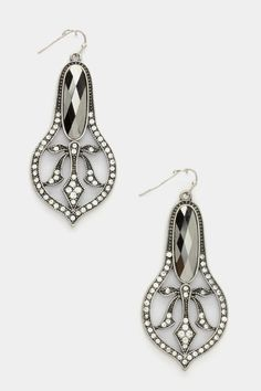 Crystal Edwardian Chandelier Earrings | Awesome Selection of Chic Fashion Jewelry | Emma Stine Limited