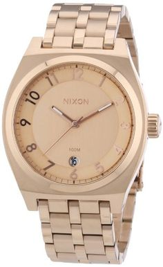 Men's Wrist Watches - Nixon Mens Monopoly A325897 RoseGold StainlessSteel Quartz Watch with RoseGold Dial *** Want additional info? Click on the image. (This is an Amazon affiliate link)
