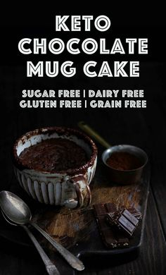 Keto Chocolate Mug Cake - My Pcos Kitchen - A Gooey Chocolate Mug Cake Ready In Less Than 2 Minutes Plus It Can Be Made Nut Free, With Different Sweeteners And It's All Dairy Free And Sugar Free Via Mypcoskitchen Sugar Free Desserts, Low Carb Desserts, Low Carb Recipes, Snack Recipes, Cookie Recipes, Dessert Recipes, Paleo Dessert, Healthy Desserts, Dessert Ideas