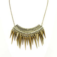 Spikes Cascade Collar Necklace
