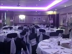 Our wedding suites have LED lighting so you can match your room to your colour scheme! A little something extra to create that perfect atmosphere for your wedding day