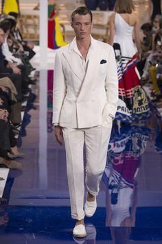 Ralph Lauren Spring 2018 Ready-to-Wear Collection - Vogue Model: Abel Van Oeveren