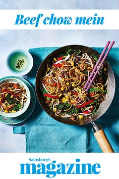 This dairy free stir-fry is packed with Asian flavour and vibrant veg. Ready in just 20 minutes, this quick and easy recipe is ideal for a midweek family meal Chinese Recipes, Asian Recipes, Quick Recipes, Quick Easy Meals, Beef Chow Mein, Curry In A Hurry, One Pot Dinners, Lamb Dishes, Midweek Meals