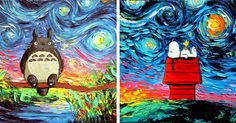 Artist Reimagines Van Gogh's 'Starry Night' with Pop Culture Icons – ViralBandit