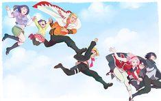 Anime Boruto: Naruto The Movie  Sasuke Uchiha Sarada Uchiha Sakura Haruno Boruto Uzumaki Himawari Uzumaki Hinata Hyūga Naruto Uzumaki Naruto Wallpaper