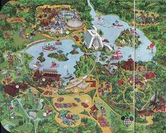Vintage big 1971 magic kingdom walt disney world map guide another great map of walt disney world from the mid 1970s freerunsca Gallery