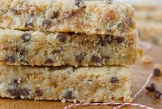 Toffee-Chocolate Chip Shortbread via Apartment Therapy.