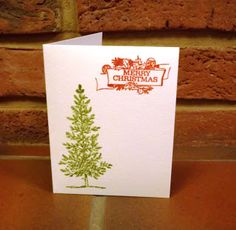 Stamped card (lovely as a tree)