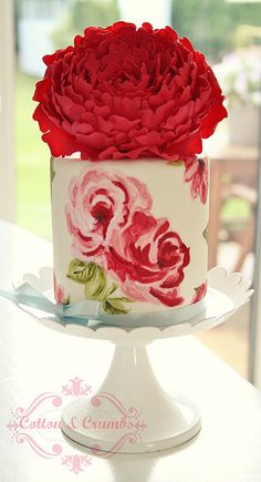 Handpainted cake. this may very well be one of the absolute most fabulous things I have EVER seen!