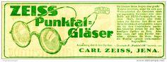 Original-Werbung/ Anzeige 1922 - ZEISS PUNKTAL GLÄSER - 140 x 45  mm