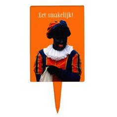 Taart-/Caketopper met Zwarte Piet.