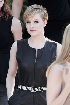 """A short-haired Evan Rachel Wood is spotted leaving the talk show """"Chelsea Lately"""" after promoting her new movie """"The Ides of March"""".  The new movie is directed by George Clooney who also plays a character in the film which is based on the play by Beau Willimon."""