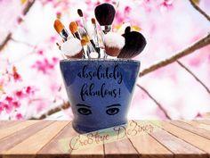 Absolutely Fabulous, Glitter Makeup Jar, Brush Holder, Makeup Brush Holder, Bathroom Decor, Glitter Brush Holder, Unicorn Brushes, Mermaid