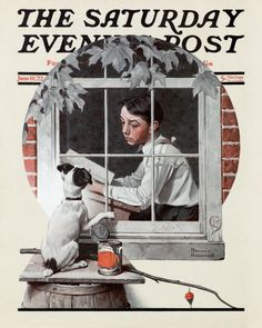 Norman Rockwell's Schoolboy Gazing Out Window, June 10, 1922 Issue of The Saturday Evening Post
