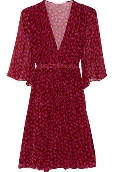Diane von Furstenberg Printed silk-georgette wrap dress | NET-A-PORTER