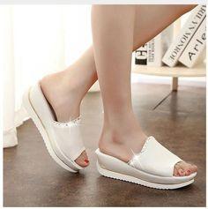 timeless design 03bf7 1dbda Women PU Leather Sandals Slides