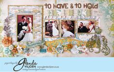 To Have to Hold: Wedding layout using Prima product.
