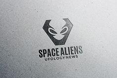 Aliens Logo Template by pne-design on @creativemarket
