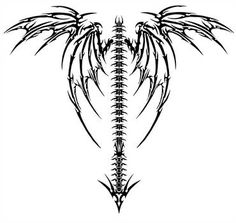 Wings 2 by cross-bonez on DeviantArt Tribal Tattoos, Skull Tattoos, Body Art Tattoos, New Tattoos, Celtic Tattoos, Tattoos For Guys, Cool Tattoos, Spine Tattoos, Sleeve Tattoos