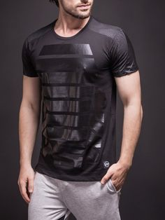 SAW Men Tur Mesh T-shirt - Black