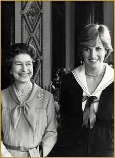 Queen Elizabeth and Lady Diana in 1981.