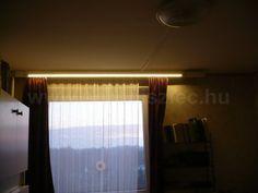 LED szalag kiegészítő világítás alu profilra ragasztva.  Függönyvilágítás, karnisvilágítás - nappal az ablakon árad be a természetes fény, éjjel pedig fel lehet kapcsolni a rejtett világítást! :) Curtains, Led, Home Decor, Blinds, Decoration Home, Room Decor, Draping, Tents, Picture Window Treatments