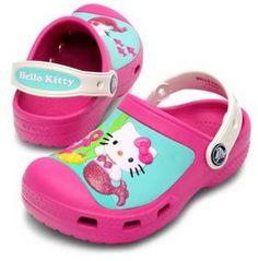 791ecab31 Creative Crocs Hello Kitty® Clog in Fuchsia Oyster