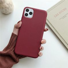 Solid Color iPhone Case - for iphone XS / wine red