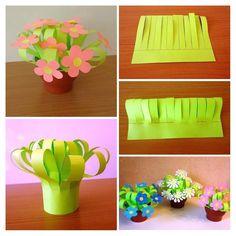 Flowers for mom – Artofit Flowers For Mom, Easy Paper Flowers, Spring Flowers, Art N Craft, Craft Stick Crafts, Easy Crafts, Paper Crafts, Mothers Day Crafts For Kids, Craft Projects For Kids