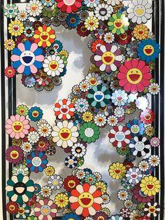 This Takashi Murakami I took a pic of at a gallery in Miami - iWallpaper Murakami Artist, Takashi Murakami Art, Iphone Homescreen Wallpaper, Wallpaper Iphone Cute, Flower Wallpaper, Murakami Flower, Superflat, Mickey Mouse Art, Stunning Wallpapers