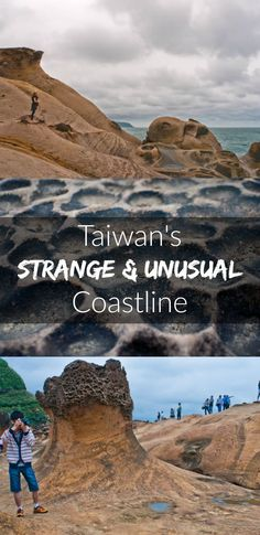 Bizarre rock formations at Yehliu Geopark, just an hour's drive from Taipai, Taiwan: