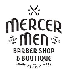 "beautifultype: ""Mercer Men"" : lettering handcrafted by Simon Walker for a barber shop logo somewhere in Canada. Don't forget to check Simon's portfolio cause it's hot. He's also on Dribbble. Simon always does incredible work. Typography Letters, Graphic Design Typography, Branding Design, Logo Design, Corporate Branding, Ad Design, Packaging Design, Design Ideas, Simon Walker"