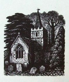 REYNOLDS STONE wood engraving. One of the illustrations in Boxwood. Book published in 1960