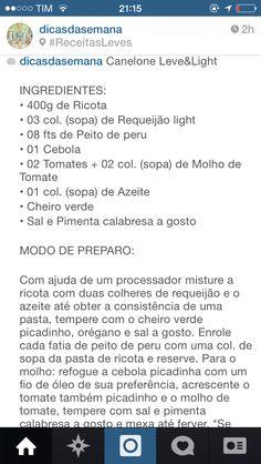 Canelone light prt 1