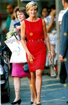 Princess Diana on her last Engagement