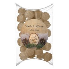 Rustic Pines Woodland Wedding Chewing Gum Favors