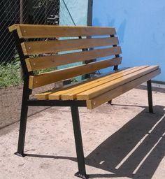 vidaXL Iron Frame Garden Bench with Wood - Salvabrani - Salvabrani