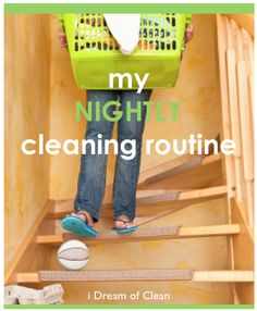 Do you have a nightly cleaning routine? It could help your sanity on those crazy mornings. #cleaning #routine
