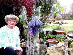My Draped Mother's old crochet doily and dollar tree's creation pot. Ga. USA - YouTube