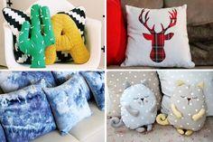 Оцените на 35 фото - оригинальные диванные подушки, которые были пошиты, связаны и украшены своими руками. Отличный способ освежить интерьер!