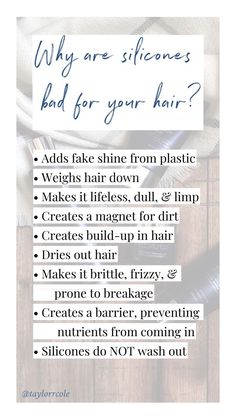 Silicones are BAD for your hair! Silicones are BAD for your hair! Hair Salon Quotes, Hair Quotes, Body Shop At Home, The Body Shop, Adventure Time, Nars Cosmetics, Hair Facts, Hairstylist Quotes, Cosmetology Student